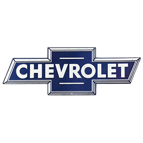Open Road Brands Chevrolet Bowtie Embossed Tin Sign