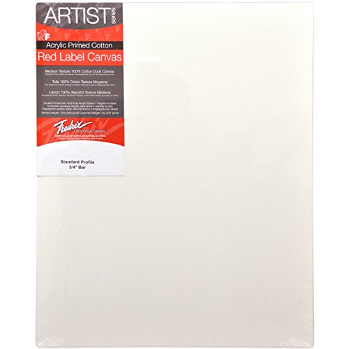 Fredrix 12 by 16-Inch Stretched Canvas