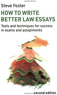 d essay services Amazon UK We know preparing for exams is a stressful time in law school  and we hope the resources in this guide are useful to you for productive studying  review