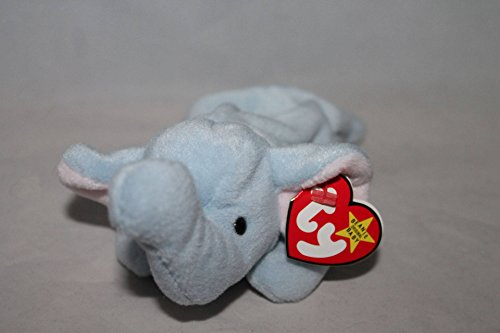 Ty Beanie Babies - Peanut the Light Blue (Elephant Beanie Babies)