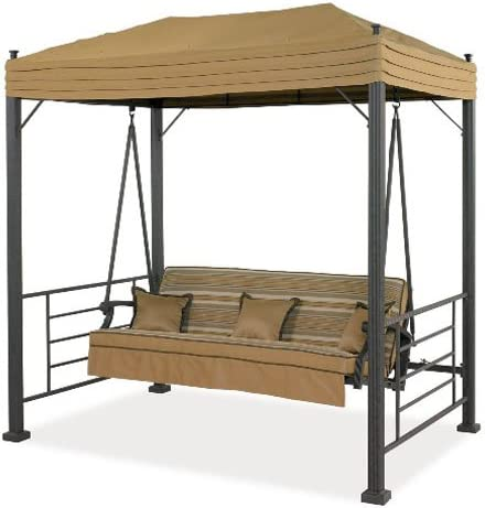 MasterCanopy Gazebo Replacement Canopy Roof for 10 10 Gazebo Model L-GZ038PST-F Brown