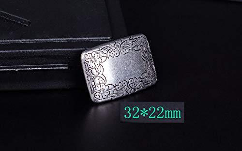 (FidgetFidget 5PC 32X22MM Antique Silver Cowboy Western Flower Decor Rectangle Saddle Conchos)