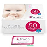 Ovulation Test Strips Kit - 50 LH and 2 HCG - OPK Ovulation Predictor Kit iProvèn FL-50 (50 LH Ovulation & 2 HCG Pregnancy Test Strips) LH Tests for Family Planning and Cycle Tracking (FL-50)