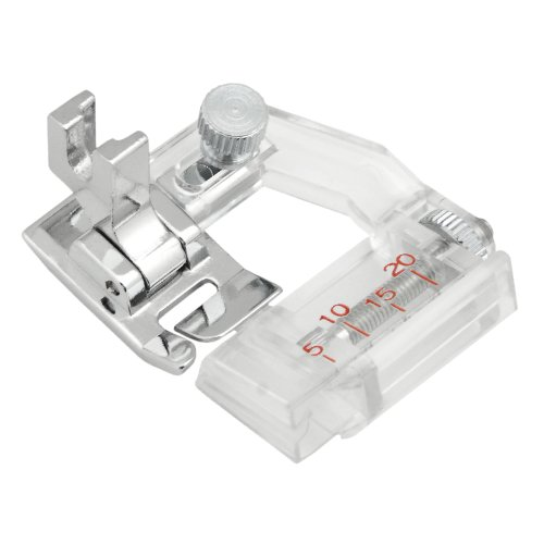 Sew Perfect Adjustable Bias Tape Binding Presser Foot for All Low Shank Snap-on Singer*, Brother, Babylock, Viking (Husky Series), Euro-Pro, Janome, Kenmore, White, Juki, Bernina (Bernette Series), New Home, Simplicity, Necchi, Elna and More! by Sew Perfect
