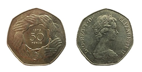 Stampbank Coins for Collectors - Uncirculated 1973 British Fifty Pence / 50p Coin / Great Britain