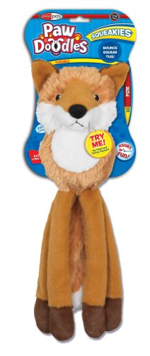 Pawdoodles Squeakies Dog Toy, Fox, Large, My Pet Supplies