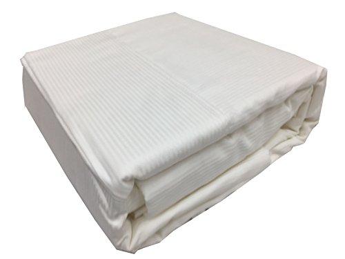 - STI Organic Cotton Sheets Twin, Cotton Sheets Twin Bed, Cotton Sheets Twin Size (White Stripe)