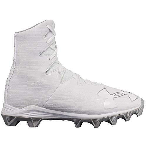 Under Armour Highlight RM Youth Lacrosse Cleat - White/Metallica Silver-5