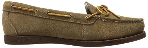 Eastland Womens Yarmouth Camp Moc Slip-on In Pelle Scamosciata Color Kaki