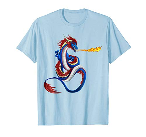 Breathing Fire Dragon T-shirt (Dragon Fire RPG Tabletop Gaming Dungeon T-Shirt)