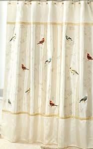 Amazon Com Avanti Linens Gilded Birds Shower Curtain