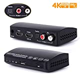 HDMI Switch with Audio Extractor Support 4K@60Hz 1080P Full HD, HDR, UHD ARC EDID Setting, Ansten HDMI Splitter with Optical L/R Audio Out for PS4/PS3/PRO/Xbox/360/DVD Game Home Projector Use