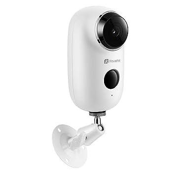Cámara de Vigilancia Inalámbrico, Cámara Batería Exterior Pilas Impermeable o Interior Wifi Noctura 720P, 2-Way-Talk Cámara con Baterías HD Wifi Vídeo ...