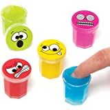 Baker Ross Funny Face Slime Putty (Pack Of 6) For Kids Party Bag Fillers