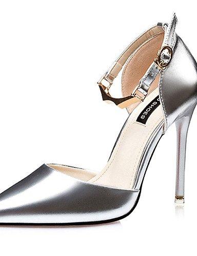 GGX/ Damenschuhe-High Heels-Lässig-PU-Stöckelabsatz-Absätze-Schwarz / Rosa / Silber pink-us5.5 / eu36 / uk3.5 / cn35