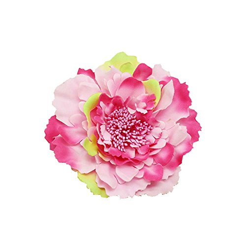Kewl Fashion Women's Bohemia Peony Flowers Hairpin Hair Clip Flower Brooch (Floral #1)
