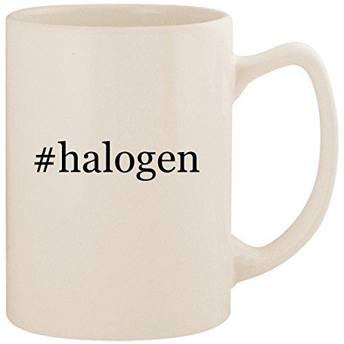 #halogen - White Hashtag 14oz Ceramic Statesman Coffee Mug Cup