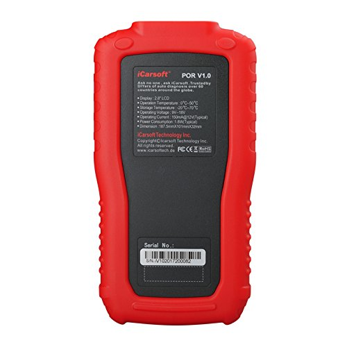 iCarsoft Auto Diagnostic Scanner POR V1.0 for PORSCHE with Airbag Scan, Oil Service Reset ect