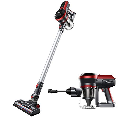 BEAUDENS Cordless Vacuum Cleaner, 9 Kpa High Power, Long Runtime, Rechargeable and Lightweight, Wall Mounted, 3 Stages Filtration for Carpet Hard Wood Floor Car Pet Hair