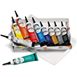 Pebeo Vitrea 160, Set of 10 Assorted Glass Paint Outliners, 20 ml Tubes