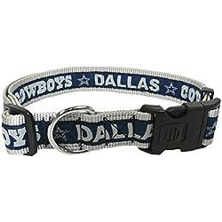 NFL perro collar. 32NFL equipos disponible en 4tamaños. Heavy-Duty, fuerte y durable Pet Collar. NFL fútbol Gear para el cachorro deportivo., Dallas Cowboys