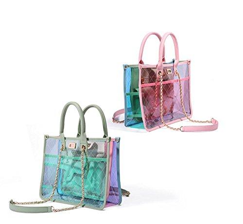 chaîne sac gelée capacité rafraîchissant Powder l'épaule diagonal Chic transparent sac sac Pvc grande bandoulière sac de dans Mesdames à provisions de à Barbie tAv5qwt