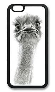 Apple Iphone 6 Case,WENJORS Cool Cute Ostrich SK053 Soft Case Protective Shell Cell Phone Cover For Apple Iphone 6 (4.7 Inch) - TPU Black