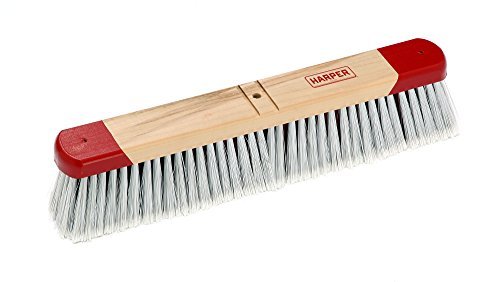 Harper Brush 351812 Broom Head, Polystyrene Fiber, All Purpose, Semi Rough Surface, Maple, 18'' (Pack of 12) by Harper Brush