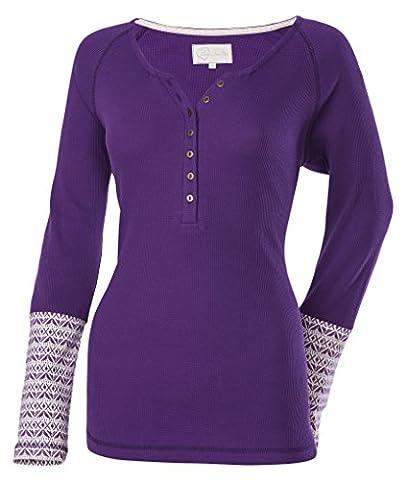 Divas SnowGear Henley Thermal Shirt (Plum, XXX-Large) - Divas Womens Shirts