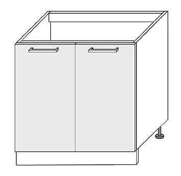 Küchenschrank Unterschrank Spüle Spülenschrank stripes hochglanz 2 ...