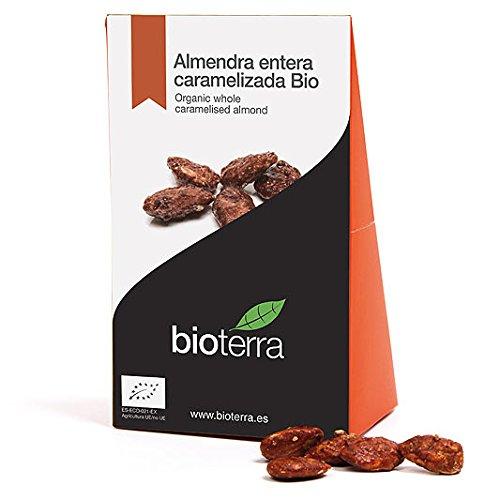 Bioterra, almendra caramelizada con azúcar de caña bio, 6 estuches de 100 g (