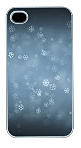 Snow Flower Polycarbonate Plastic Hard Back Case Cover Protector Compatible with iPhone 4s and iPhone 4 White