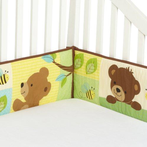 Bedtime-Originals-Honey-Bear-4-Piece-Bumper-BrownGreen