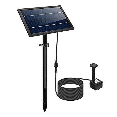 affordable Lewisia 8W Solar Fountain Pump for Pool Koi Pond Pot Bird Bath Garden Decoration Solar Powered Submersible Water Pump Kit