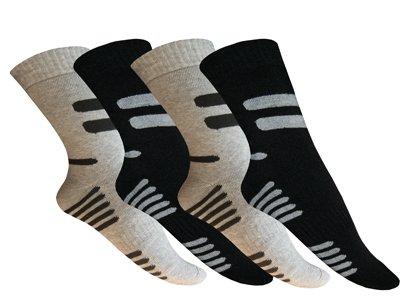 6 pares de calcetines térmicos Invierno Calcetines rayas para hombre mujer negro: Amazon.es: Ropa y accesorios