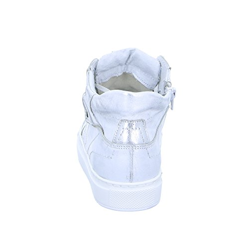 Kristofer 2054 Damen Sneaker Schnürer Halbschuh Sneaker-High Silber Weiß (White)