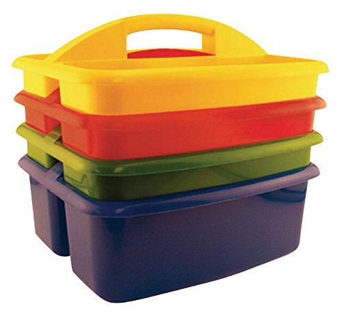 School Specialty Large Plastic Art Caddies - Set of 4 - A...