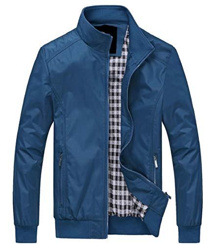 Stand Men's Coats Jacket Windbreaker Collar 1 Lightweight TTYLLMAO Casual Military q1cpxAxZvw
