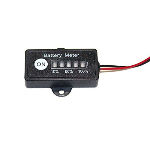12 Volt Battery Gauge : V lead acid battery fuel gauge indicator meter for