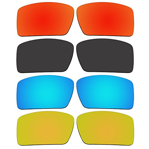 4 Pair Replacement Polarized Lenses for Oakley Eyepatch 2 Sunglasses Pack - 2 Eyepatch Lenses Polarized
