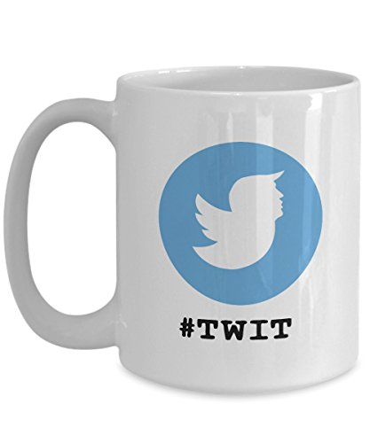 #Tweet Donald Trump Twitter Logo Funny Coffee Mug Great Gift For Twitter Lover Or Person Who Tweets Al The - Al Tas
