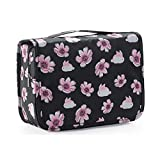 Ac.y.c Hanging Toiletry Bag-Travel Organizer Cosmetic Make up Bag case for Women Men Kit with Hanging Hook for vacation (Cherry)