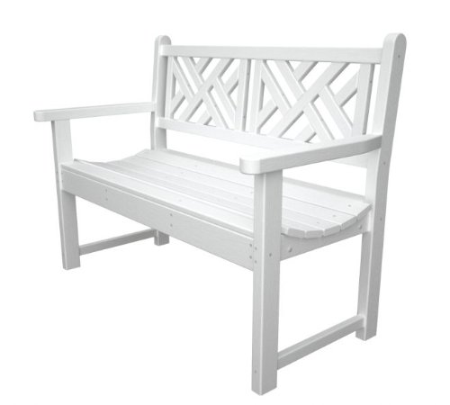 Recycled Plastic Chippendale 48 Inches Outdoor Bench Storage Benches Patio And Furniture