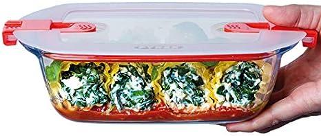 Conservez et R/échauffez Pyrex Bo/îte de conservation Cook /& Heat Cuisinez au four Plat Rectangulaire en Verre avec Couvercle Herm/étique Sp/écial Micro-ondes