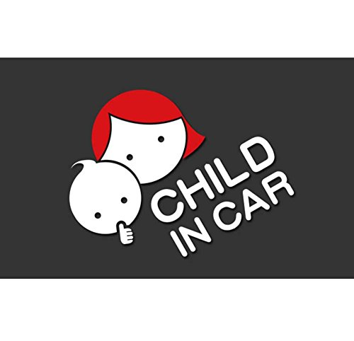 Kylin Express Child in Car Reflective Material Car Sticker Decor 17 x 14.5 cm/6.7 x 5.7 inches - 15
