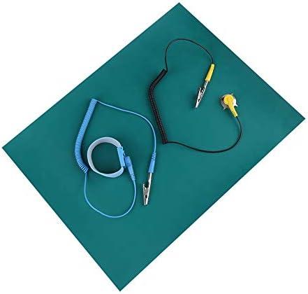AntistatikArmband mit antistatischer Matte Krokodilklemme und Erdungskabel Schutz vor elektrostatischer Entladung Antistatisches ArmbandSet für Telefonreparaturen empfindliche Elektronik