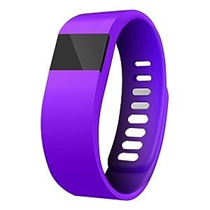 Best fitness trackers Zenixx 815416020517 Glow in The Dark Activity Tracker Pro, Purple