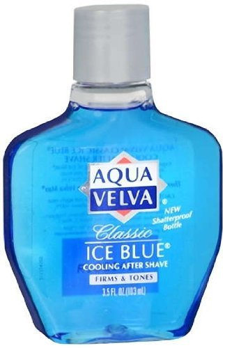 Aqua Velva Classic Ice Blue Cooling After Shave, 3.5 Ounces (Pack of 24)