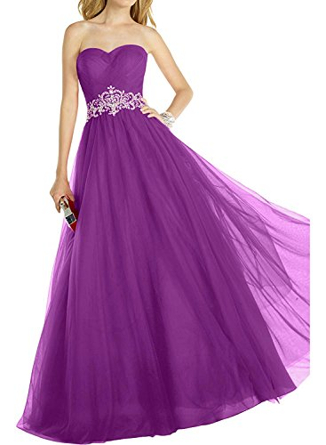 Abiballkleider Lila mia A Ballkleider Prinzess Braut Elegant Abendkleider Herzausschnitt Abschlussballkleider Lang Linie Rot La vqOxaO