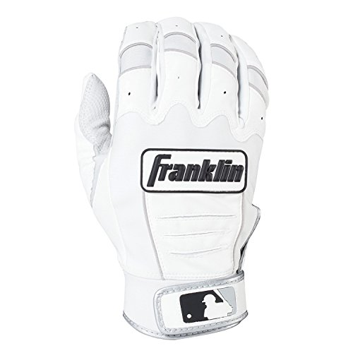 Franklin Sports Adult MLB CFX Pro Batting Gloves, Adult Medium, Pair, Pear/White